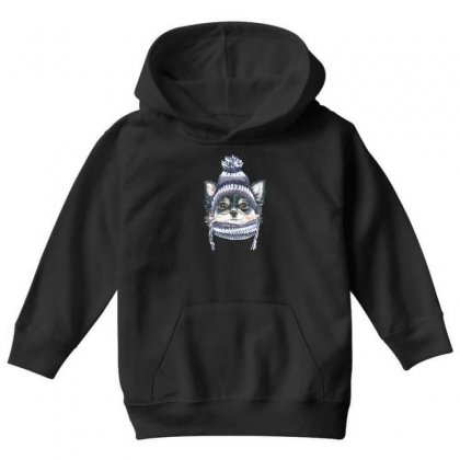 Cool Puppy (dog) Youth Hoodie Designed By Tiococacola