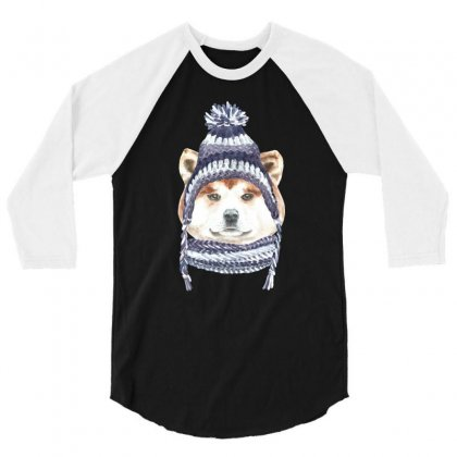 Husky Is Cold (dog) 3/4 Sleeve Shirt Designed By Tiococacola