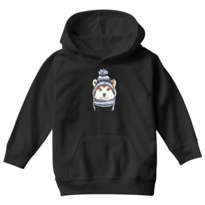 Husky Is Cold (dog) Youth Hoodie Designed By Tiococacola