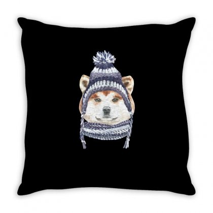 Husky Is Cold (dog) Throw Pillow Designed By Tiococacola