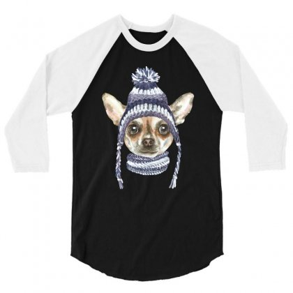 Chihuahua Puppy 3/4 Sleeve Shirt Designed By Tiococacola