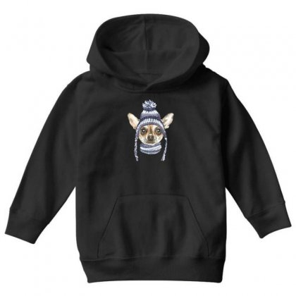 Chihuahua Puppy Youth Hoodie Designed By Tiococacola