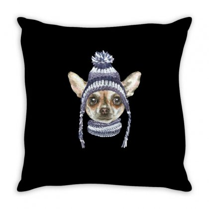 Chihuahua Puppy Throw Pillow Designed By Tiococacola