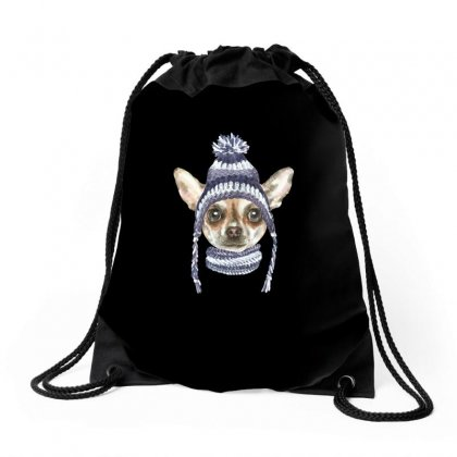Chihuahua Puppy Drawstring Bags Designed By Tiococacola