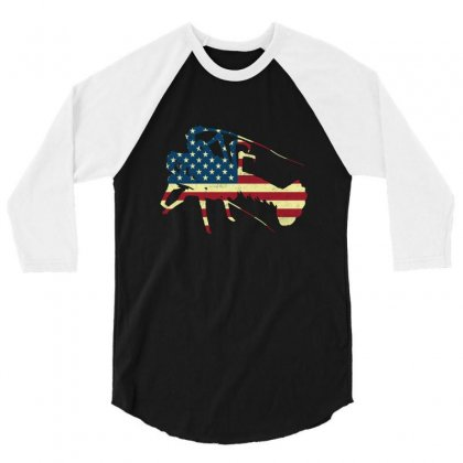 Crawfish T Shirt New Orleans Favorite American Flag Pattern Usa T Shir 3/4 Sleeve Shirt Designed By Hung