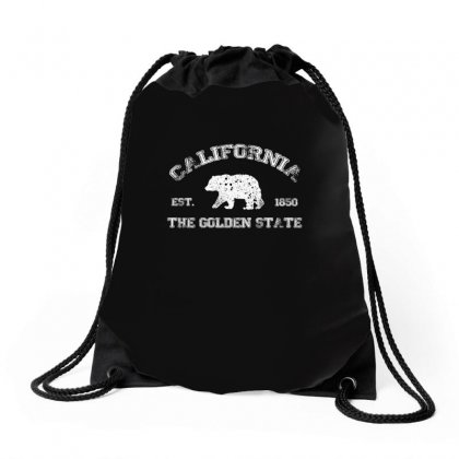 California Bear Est 1850 The Golden State Usa T Shirt Drawstring Bags Designed By Hung