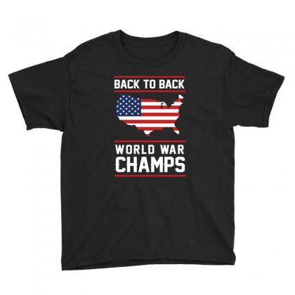 Back To Back World War Champs Usa T Shirt   America T Shirt Youth Tee Designed By Hung
