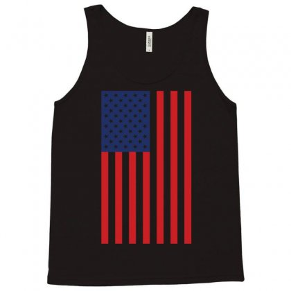 American Flag Solid Back Usa T Shirt Tank Top Designed By Hung