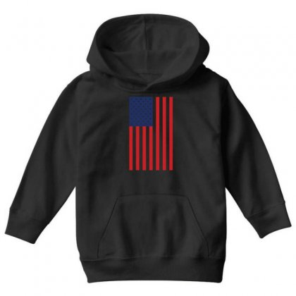 American Flag Solid Back Usa T Shirt Youth Hoodie Designed By Hung