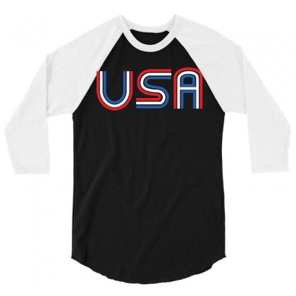 American Flag Patriotic Shirt   Made In The Usa T Shirt 3/4 Sleeve Shirt Designed By Hung
