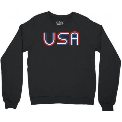 American Flag Patriotic Shirt   Made In The Usa T Shirt Crewneck Sweatshirt Designed By Hung