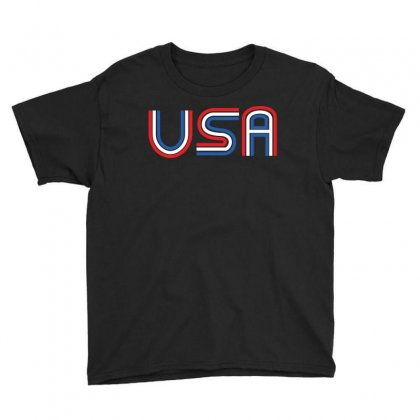 American Flag Patriotic Shirt   Made In The Usa T Shirt Youth Tee Designed By Hung