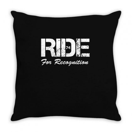 Ride For Recognition Motorbike Tshirt Motorbiking Sportbike Biker Gift Throw Pillow Designed By Hung