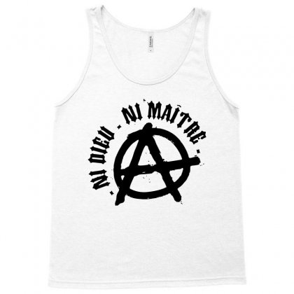 Ni Dieu Ni Maître In Black Tank Top Designed By Blqs Apparel
