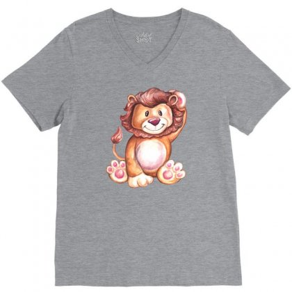 Lion King V-neck Tee Designed By Tiococacola