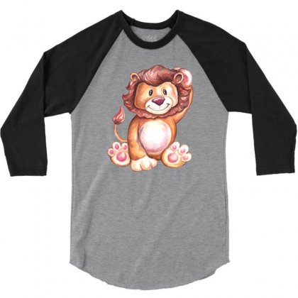 Lion King 3/4 Sleeve Shirt Designed By Tiococacola