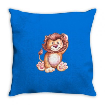 Lion King Throw Pillow Designed By Tiococacola