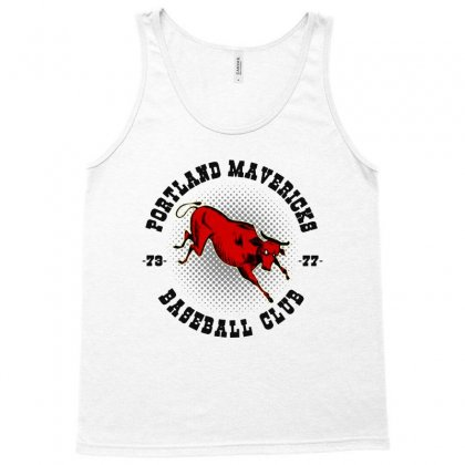 Portland Mavericks   Baseball Club Tank Top Designed By Blqs Apparel