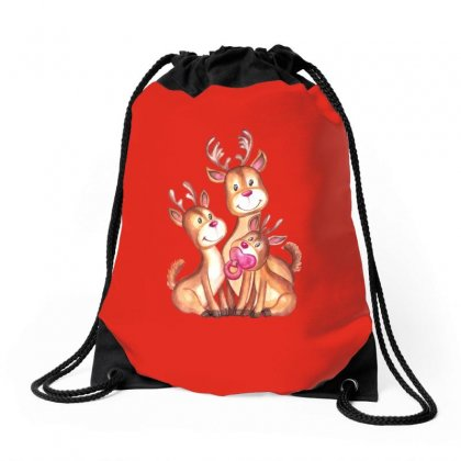 Santa's Reindeer! Drawstring Bags Designed By Tiococacola