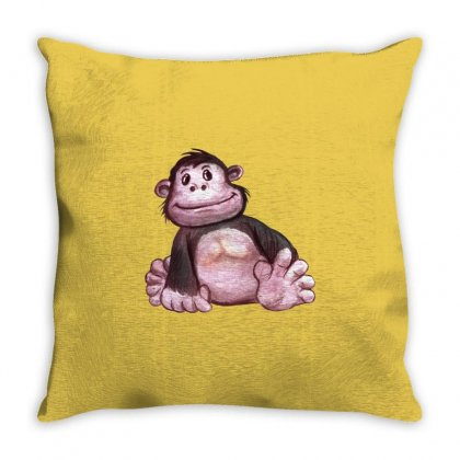 Gorilla's Baby Throw Pillow Designed By Tiococacola