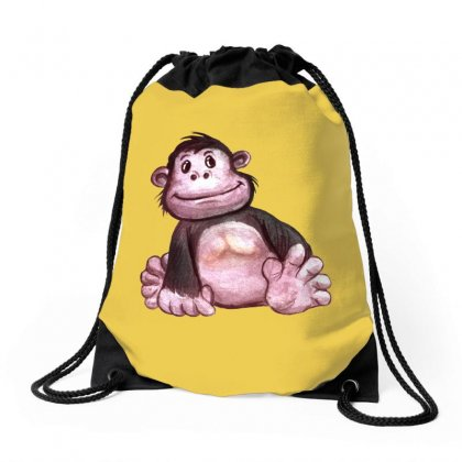Gorilla's Baby Drawstring Bags Designed By Tiococacola