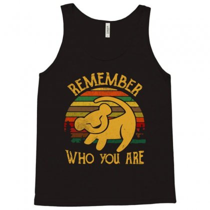 Remember Who You Are Quote Tank Top Designed By Blqs Apparel