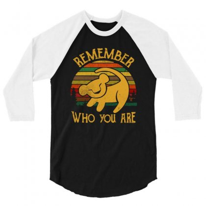 Remember Who You Are Quote 3/4 Sleeve Shirt Designed By Blqs Apparel