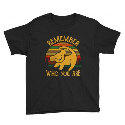 Remember Who You Are Quote Youth Tee Designed By Blqs Apparel