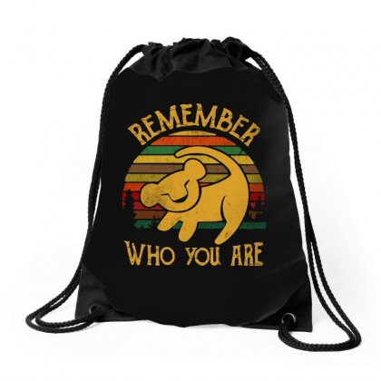 Remember Who You Are Quote Drawstring Bags Designed By Blqs Apparel