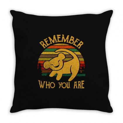 Remember Who You Are Quote Throw Pillow Designed By Blqs Apparel