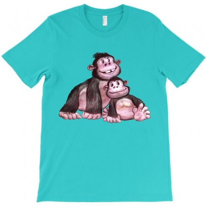 Gorilla Family T-shirt Designed By Tiococacola