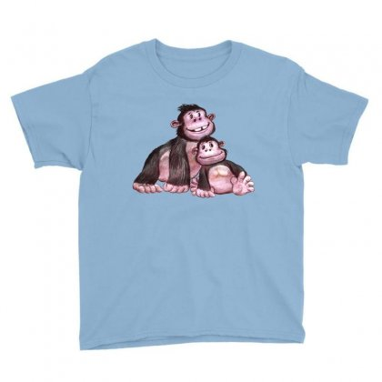 Gorilla Family Youth Tee Designed By Tiococacola