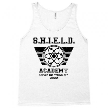 Shield Academy In Black Tank Top Designed By Blqs Apparel