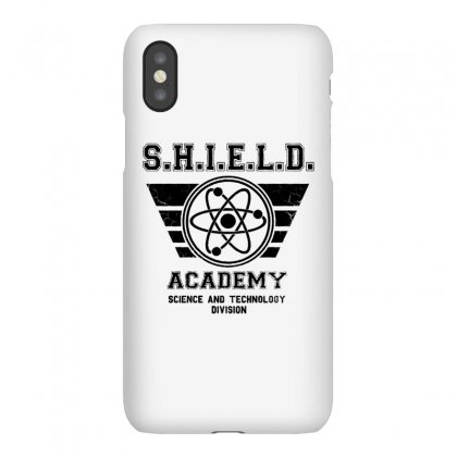 Shield Academy In Black Iphonex Case Designed By Blqs Apparel
