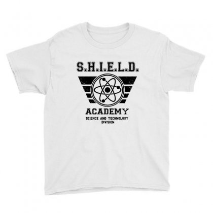 Shield Academy In Black Youth Tee Designed By Blqs Apparel
