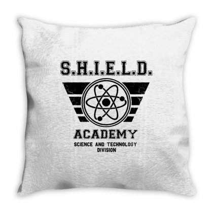 Shield Academy In Black Throw Pillow Designed By Blqs Apparel