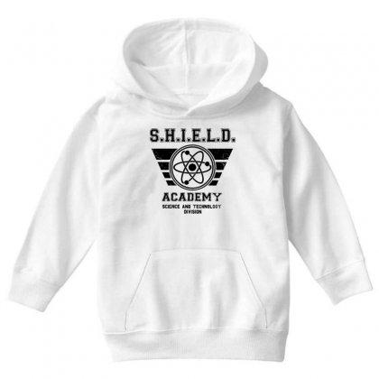 Shield Academy In Black Youth Hoodie Designed By Blqs Apparel