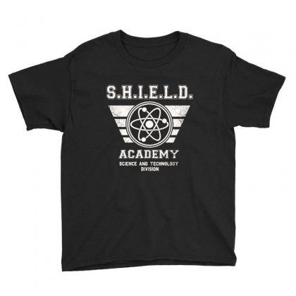 Shield Academy In White Youth Tee Designed By Blqs Apparel