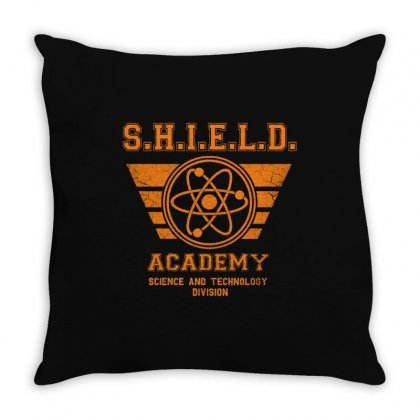 Shield Academy In Yellow Throw Pillow Designed By Blqs Apparel