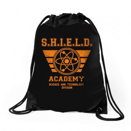 Shield Academy In Yellow Drawstring Bags Designed By Blqs Apparel