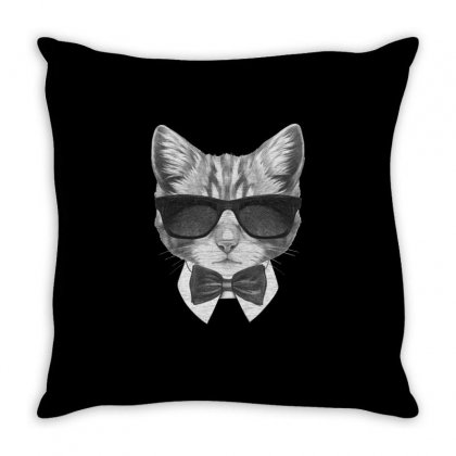 Bond Cat Throw Pillow Designed By Tiococacola