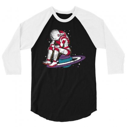 Sit On The Planet 3/4 Sleeve Shirt Designed By Blqs Apparel