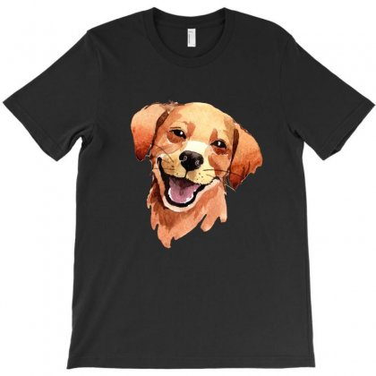 Happy Dog T-shirt Designed By Tiococacola
