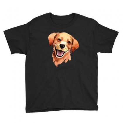 Happy Dog Youth Tee Designed By Tiococacola