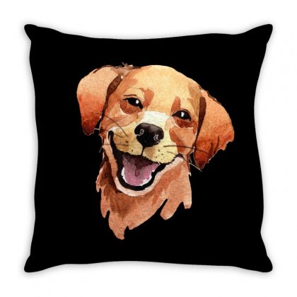 Happy Dog Throw Pillow Designed By Tiococacola