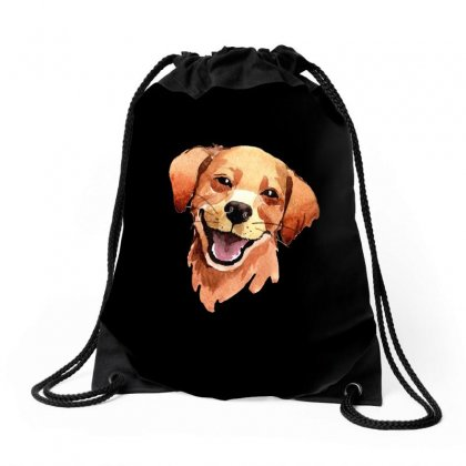 Happy Dog Drawstring Bags Designed By Tiococacola