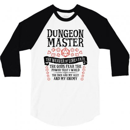 The Weaver Of Lore & Fate   Dungeons & Dragons 3/4 Sleeve Shirt Designed By Blqs Apparel