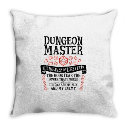 The Weaver Of Lore & Fate   Dungeons & Dragons Throw Pillow Designed By Blqs Apparel