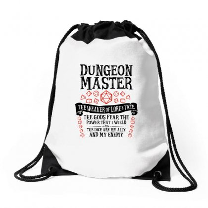 The Weaver Of Lore & Fate   Dungeons & Dragons Drawstring Bags Designed By Blqs Apparel