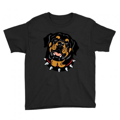 Rottweiler (dog) Youth Tee Designed By Tiococacola
